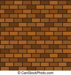 seamless pattern of brick wall for use as background, flat design