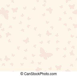 Seamless pattern of butterflies on a beige background