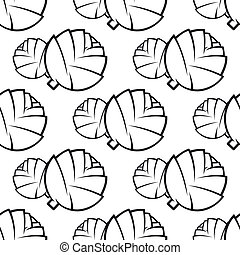 Seamless pattern of cabbages