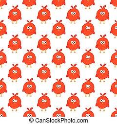 Seamless pattern of cartoon bird.