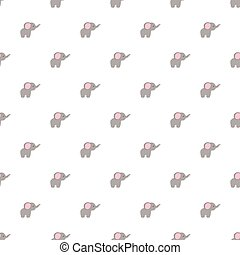 Seamless pattern of cartoon elephant