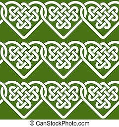 Seamless pattern of Celtic knots