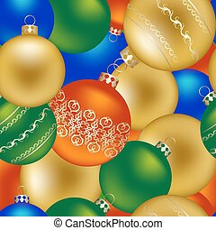 Seamless pattern of Christmas decorations