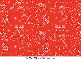 Seamless pattern of Christmas ornament