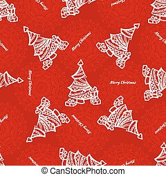 Seamless pattern of christmas tree with