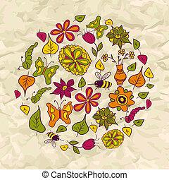 Seamless pattern of circle