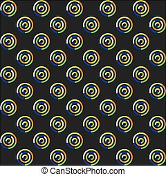 Seamless pattern of circles.
