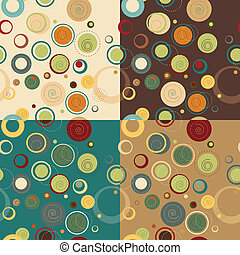 seamless pattern of circles. Vintage collection