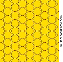 seamless pattern of circles with a gradient on a dark background
