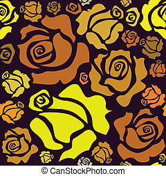 seamless pattern of color roses - illustration
