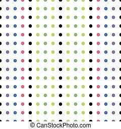 Seamless Pattern of Colored Dots
