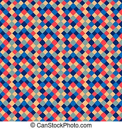 Seamless pattern of colored square