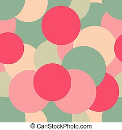 Seamless pattern of colorful confetti. Vector
