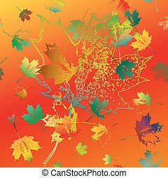 Seamless pattern of colorful fallin