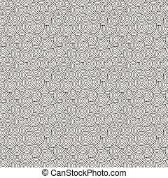 Seamless pattern of concentric circles superimposed randomly