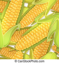Seamless pattern of corncobs