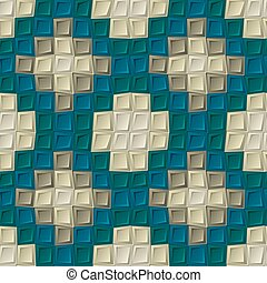 Seamless pattern of cubes