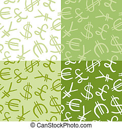 seamless pattern of currency symbol
