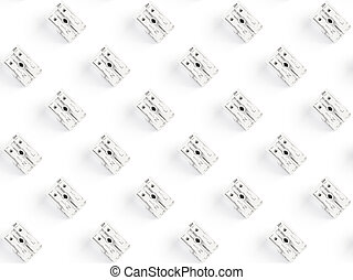 Seamless pattern of electronic components. Close up of Rows ...