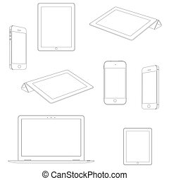 Seamless pattern of electronic devices