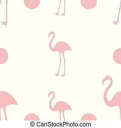 seamless pattern of flamingos on a pink background