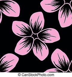 Seamless pattern of flower, flat simple retro vintage colorful vector