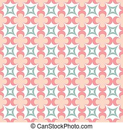 Seamless pattern of flowers in a classic style.