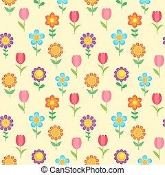 Seamless pattern of flowers