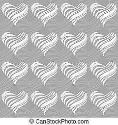 seamless pattern of funky hearts, vector