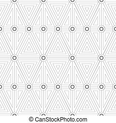 Seamless pattern of geometric shapes.