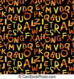 seamless pattern of gold letters