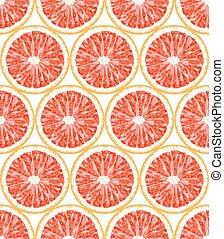 Seamless pattern of grapefruit. Citrus background