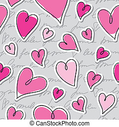 pattern of hearts - seamless pattern of hearts and hand...