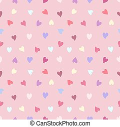 seamless pattern of hearts on pink background