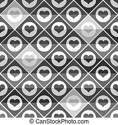 Seamless pattern of hearts tile