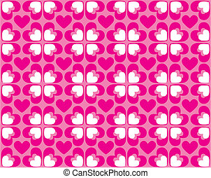 Seamless pattern of hearts - vector image - Seamless pink...