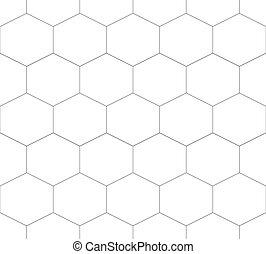 Seamless pattern of hexagon.