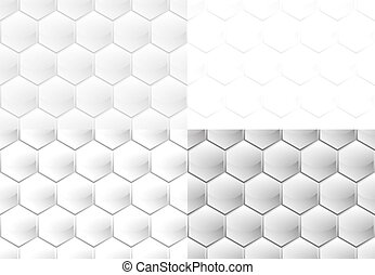 Seamless pattern of hexagons