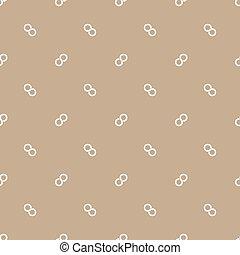 Seamless pattern of infinity symbol