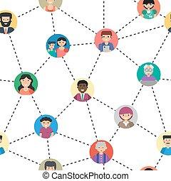 Seamless pattern of internet communication
