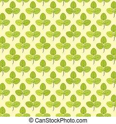 Seamless Pattern Of Leaf Background - Vector Illustration.