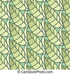 Seamless pattern of leaves. Vector illustration background