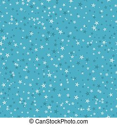 Seamless pattern of many snowflakes on blue background. Christmas winter theme for gift wrapping. New Year seamless background for website.