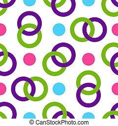 Seamless pattern of multicolored intertwining rings