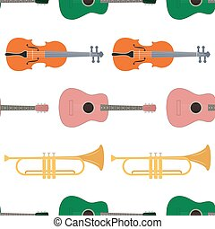 Seamless pattern of music instrument