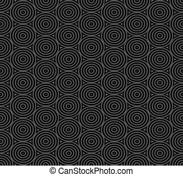 Seamless pattern of overlap black circles