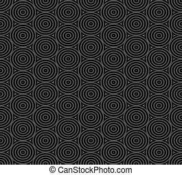 Seamless pattern of overlap black circles