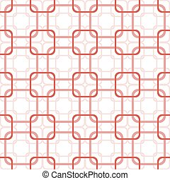 Seamless pattern of overlapping squares with rounded corners