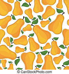 Seamless pattern of pears, vector illustration.