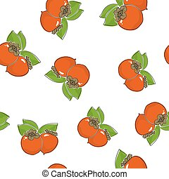 Seamless Pattern of  Persimmon